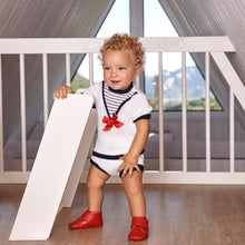 Baby boy wearing sailor outfit by Juliana baby, Spanish childrenswear