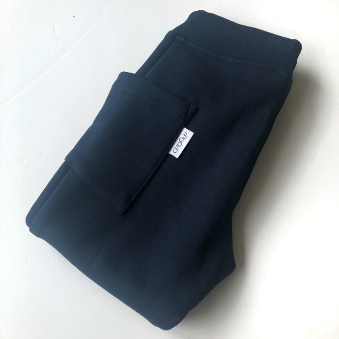Gugguu Sky Blue College Baggy Pants