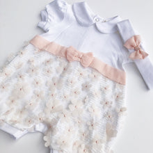 Mintini Baby White and Pink Shortie Set