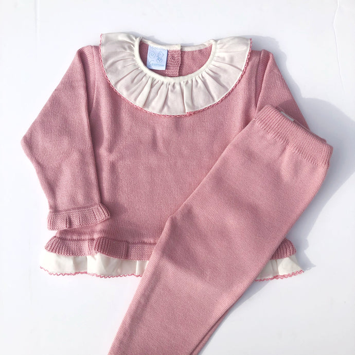 Granlei Girls Pink Knitted Set