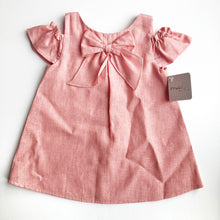 Mebi Girls Coral Linen and Cotton Dress