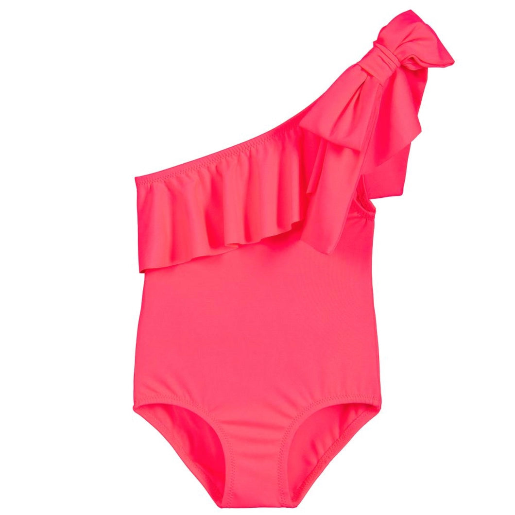 Phi Clothing Pink Ruffle Swimsuit