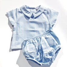 Babidu Boys Blue Striped Shorts Set