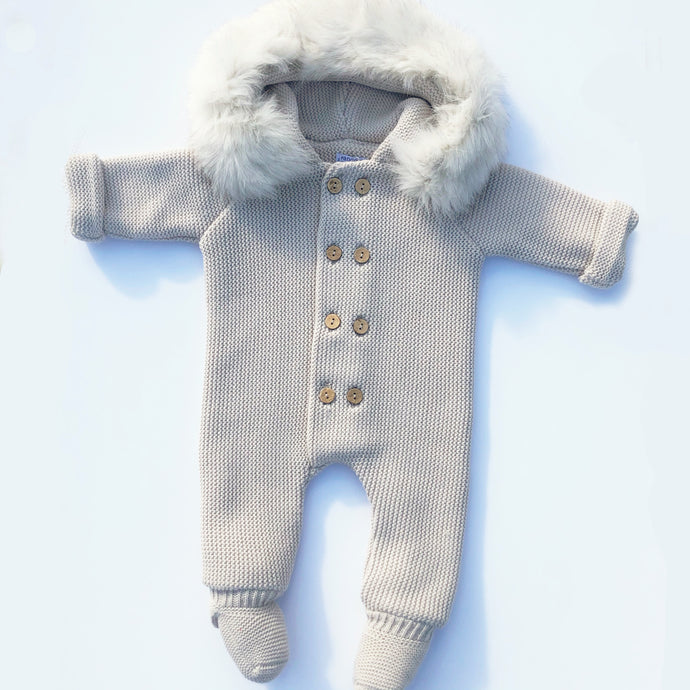 Pangasa Camel Pramsuit with Fur Hood