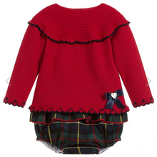 Granlei Girls Red  and Green Knitted Shorts Set