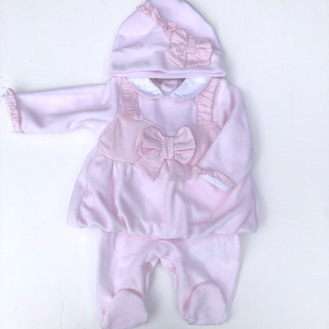Mintini Baby Pink 2 Piece Romper Set