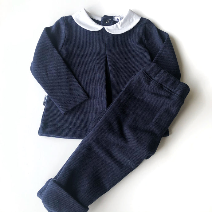 Babidu Navy Cotton Two Piece Set