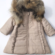 Bufi Girls Beige Padded Puffer Coat