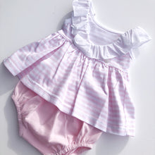 Babidu Girls Pink Stripe Dress Set