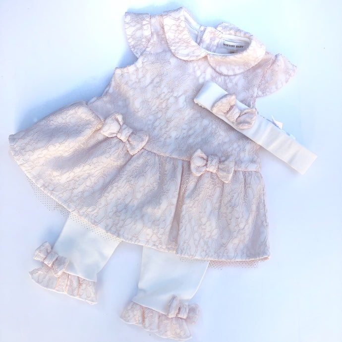 Mintini Baby Peach Smock Dress Outfit