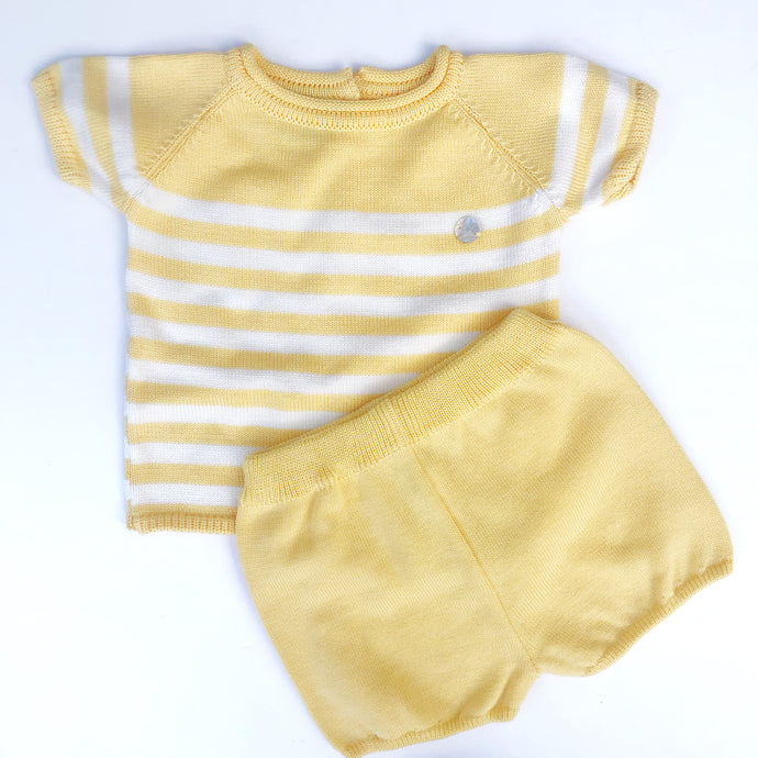 Granlei Boys Lemon Stripe Shorts Set