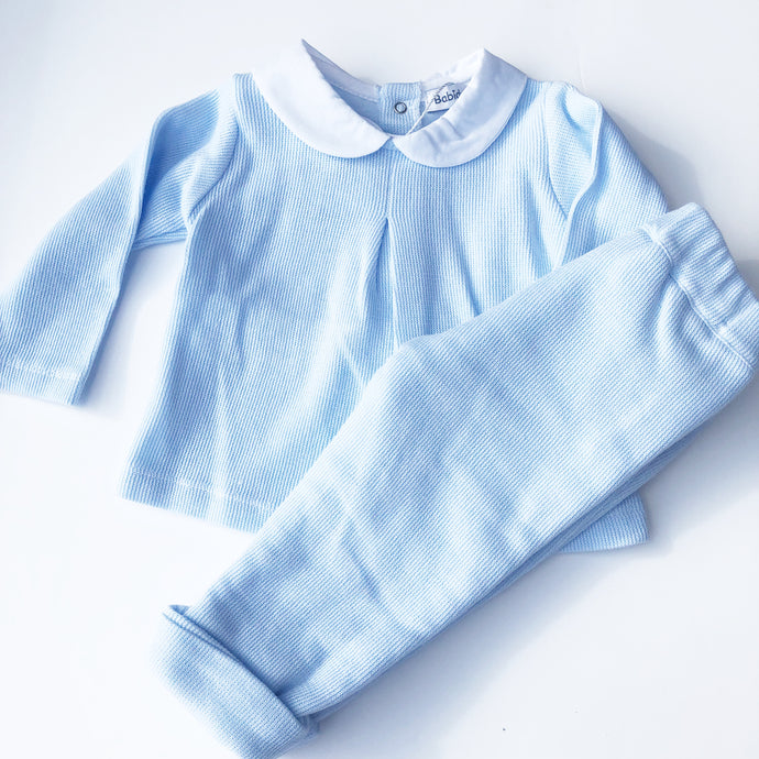 Babidu Blue Cotton Two Piece Set