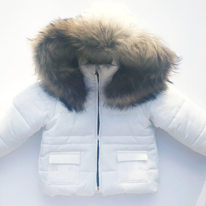Bufi Boys White Padded Puffer Coat
