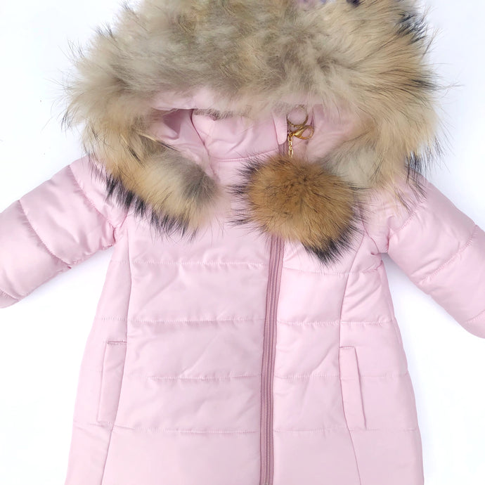 Bufi Girls Pink Padded Puffer Coat
