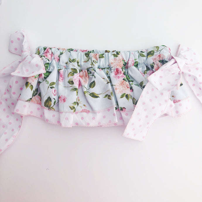 Phi Clothing Girls Pink Floral Skort