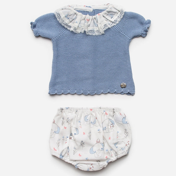 Juliana Baby Elephant Print Shorts Set