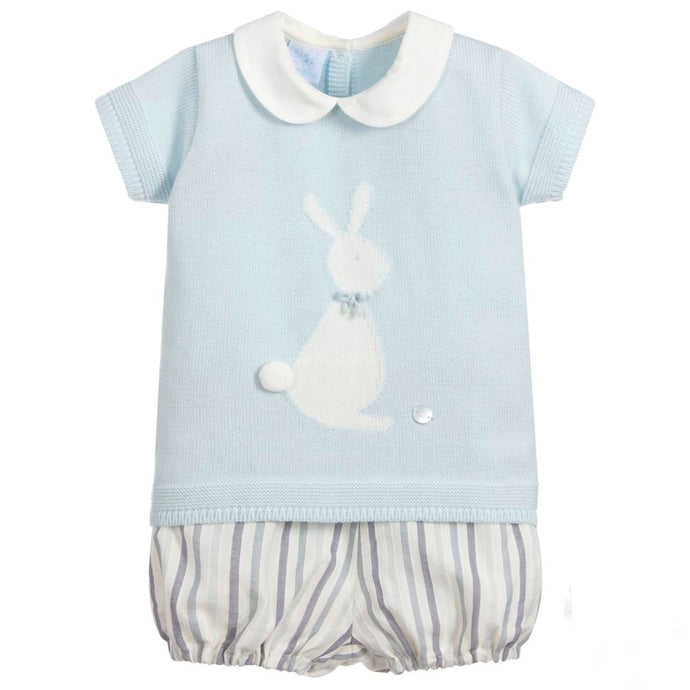 Granlei Pale Blue Shorts and Sweater Set