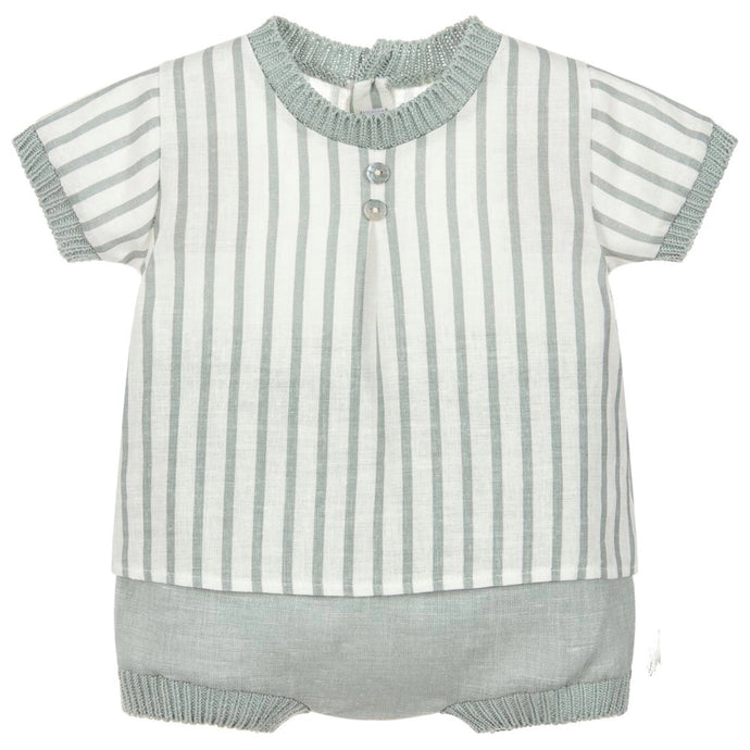 Mebi Baby Boys Linen and Cotton Shorts Set