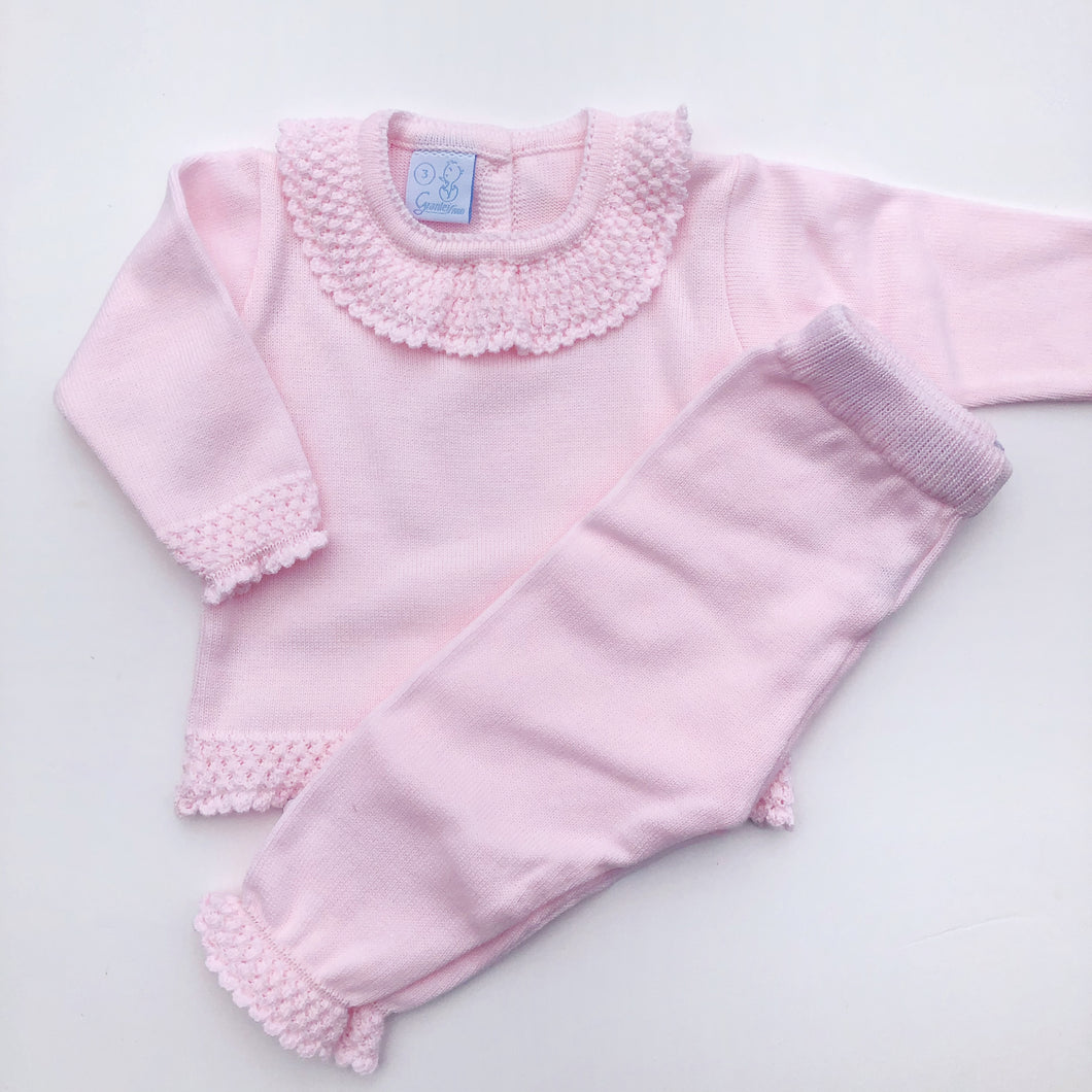 Granlei Girls Pink Knitted Tracksuit