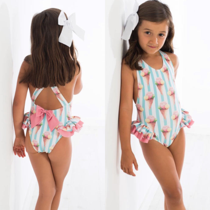 Meia Pata Girls Ice-cream Swimsuit