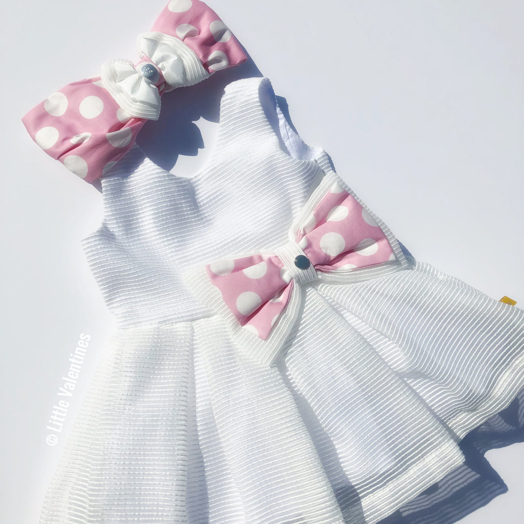 CHUA White Dress with Headband