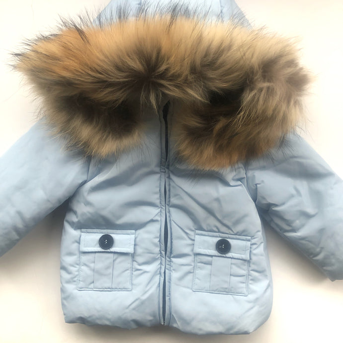 Bufi Boys Sky Blue Padded Puffer Coat