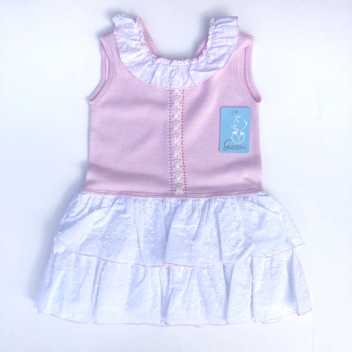 Granlei Girls Pink and White Dress
