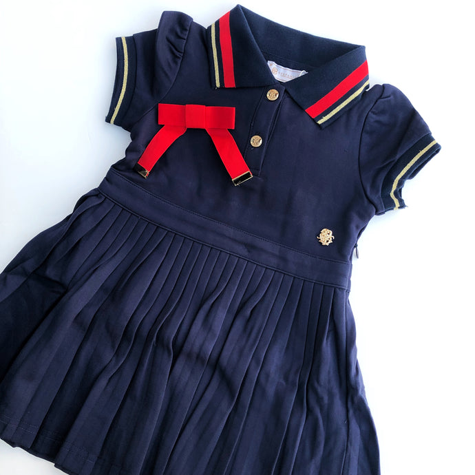 Stefania Pinyagina Navy Gucci Dress