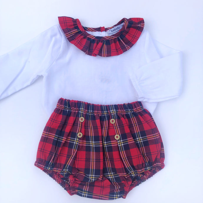 Babidu Tartan Two Piece Set