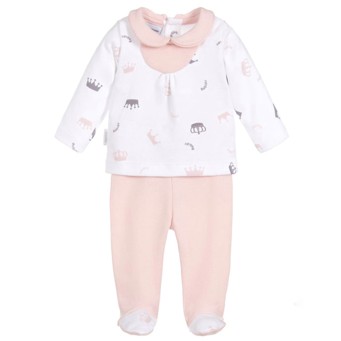 Babidu Pink Two Piece Cotton Babygrow