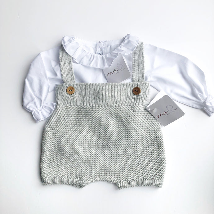 Mebi Unisex Knitted Cotton Dungaree Set