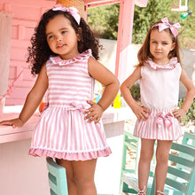 Juliana Baby Girls Pink Stripe Cotton Dress
