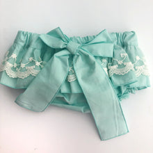 Phi Clothing Girls Mint Lace Skort