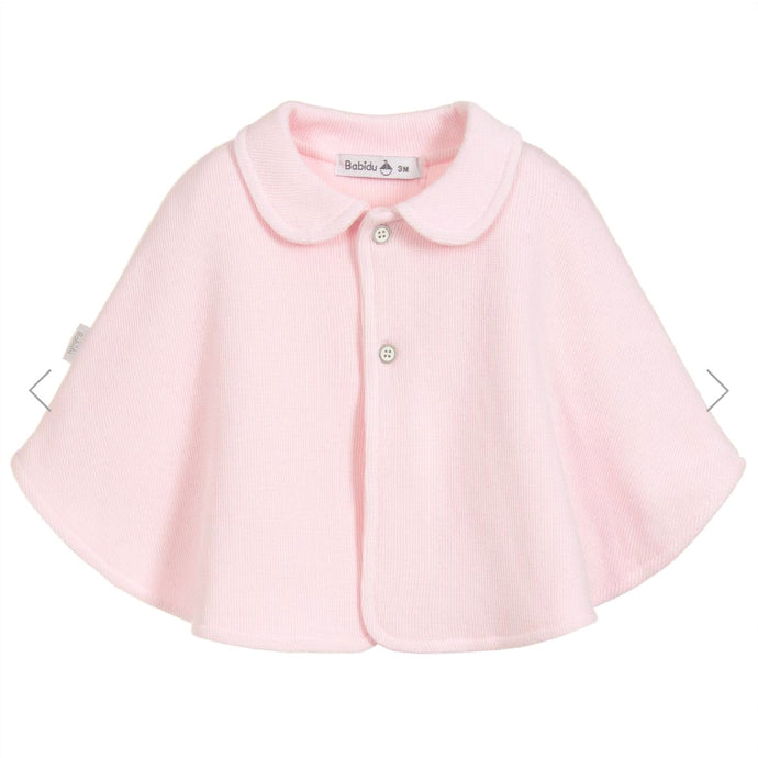 Babidu Girls Pink Cotton Knit Cape