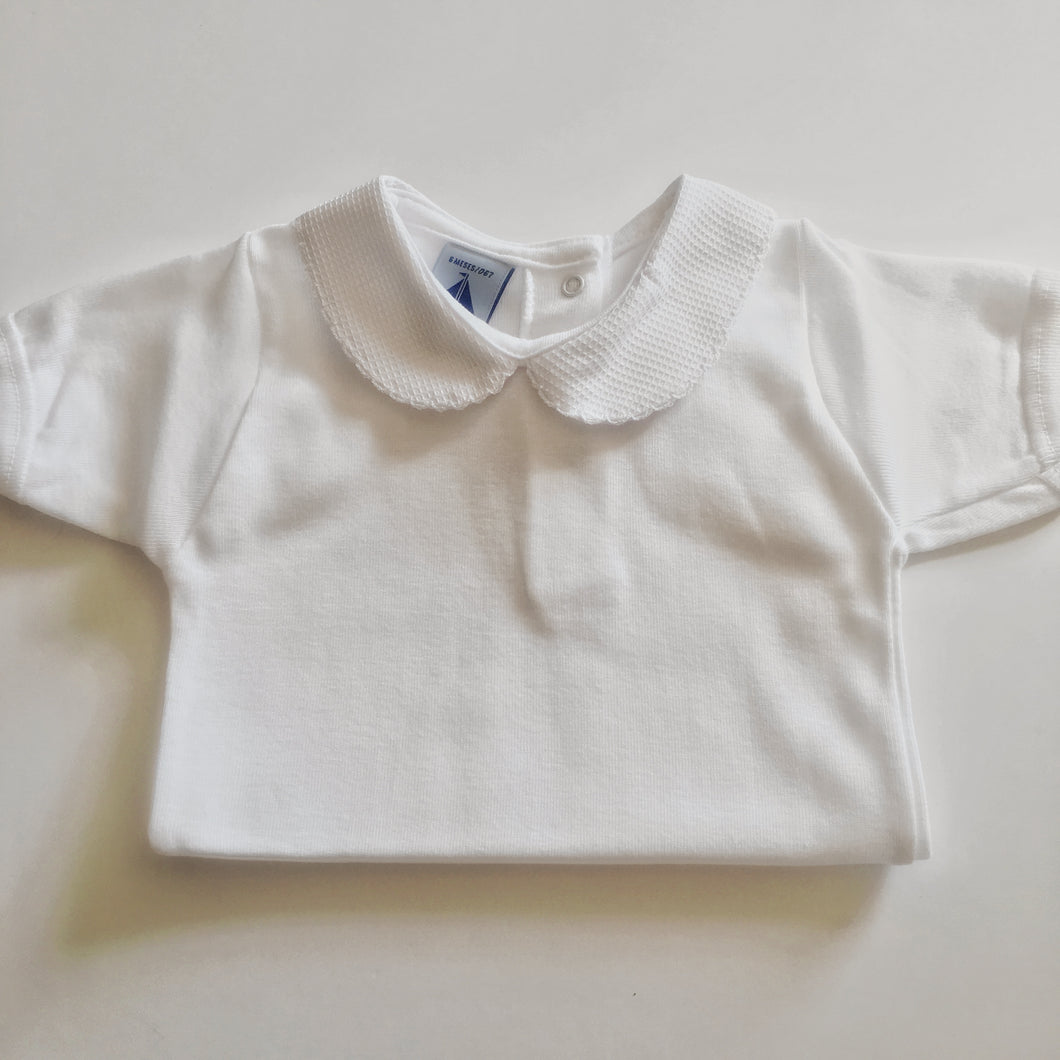 Babidu White Bodysuit with Collar