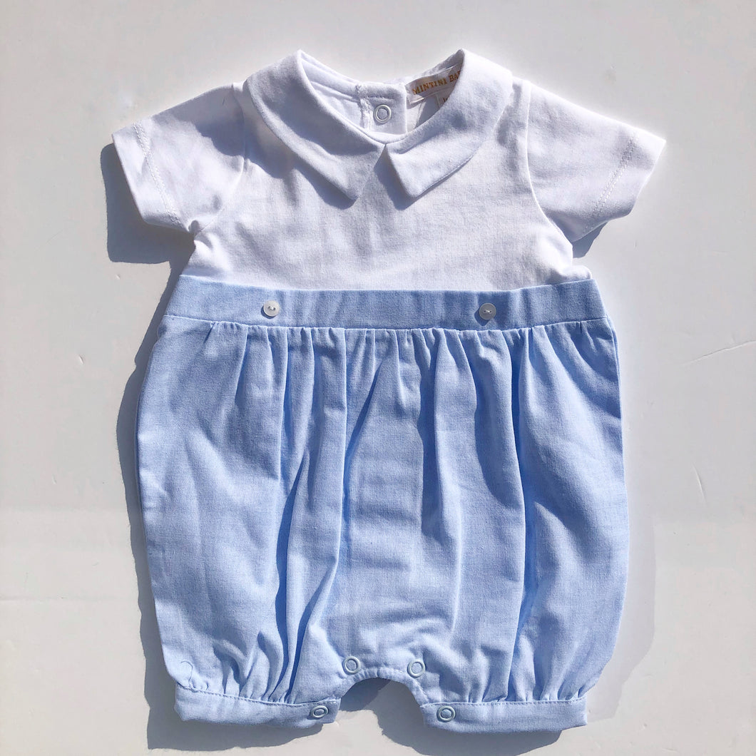 Mintini Baby Blue and White Shortie