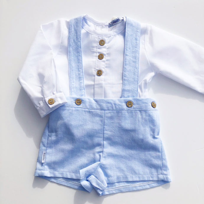 Babidu Blue Shorts and Shirt Set