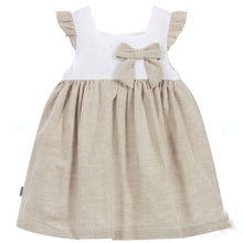 Babidu Girls Beige Linen Dress