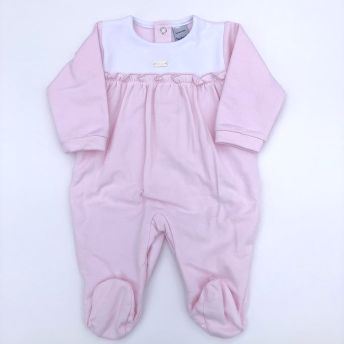 Babidu Baby Pink Girls Cotton Babygrow