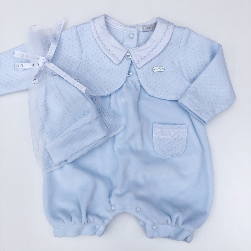Mintini Baby Blue 2 Piece Shortie Set