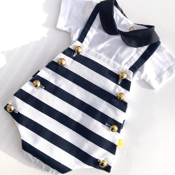 CHUA Baby Boys Striped Shortie Set