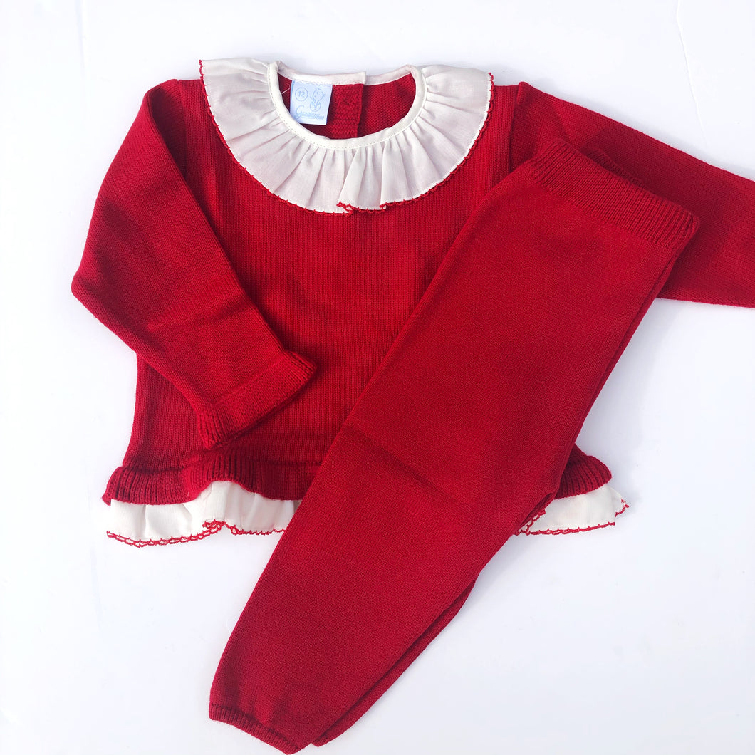Granlei Girls Red Knitted Set