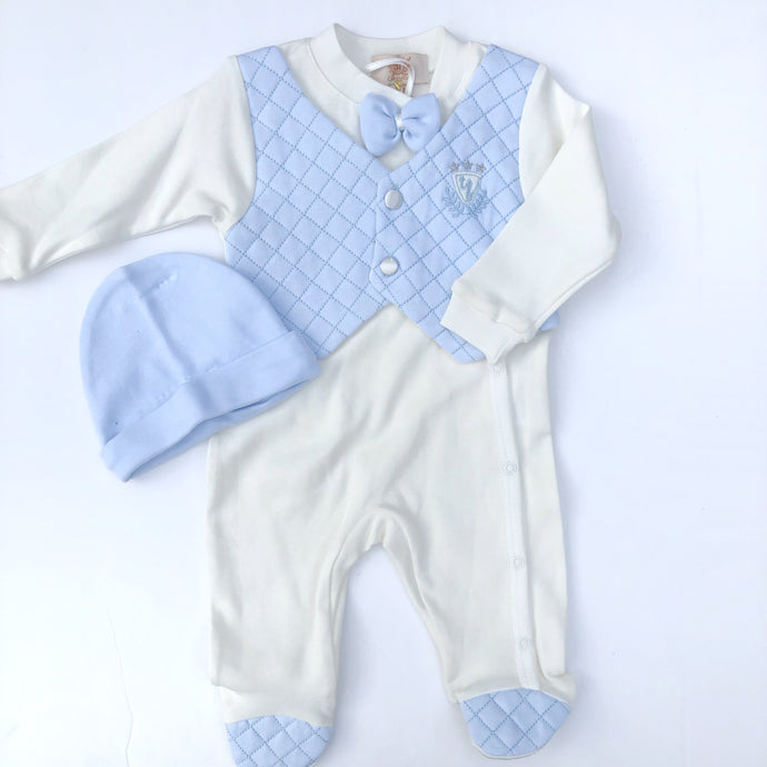 Caramelo Baby Boys Cotton Babygrow Set