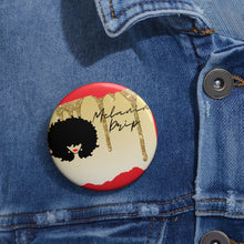 Melanin Drip (Red) -- Custom Pin Button