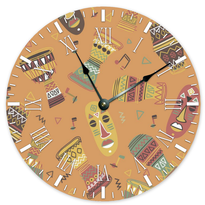 Drums of Culture -- Wall Clock