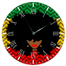 AfroQueen -- Wall Clock -- Red|Blk|Grn