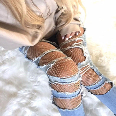 Sparkle Fishnet Stockings