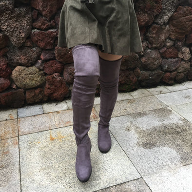 Suede flat over knee boots 7 colors
