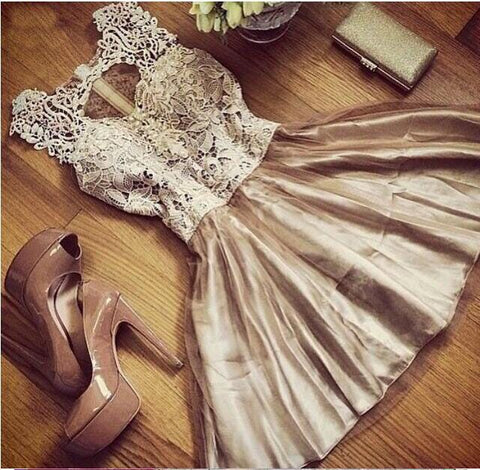 gold and lace dress