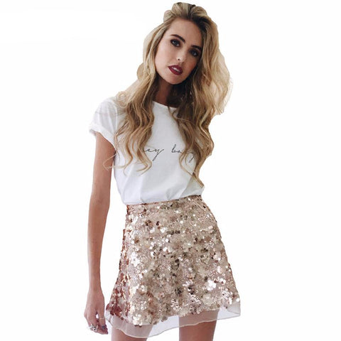 sequin party skirt color options